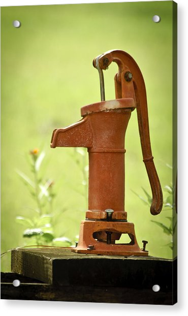 Acrylic Print featuring the photograph Old Fashioned Water Pump by Carolyn Marshall