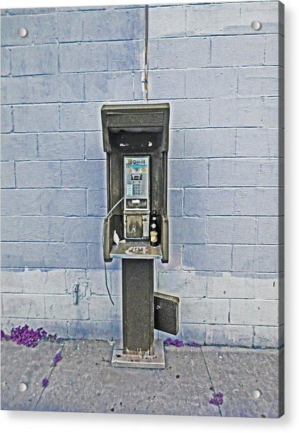 Old Pay Phone In New Orleans Acrylic Print