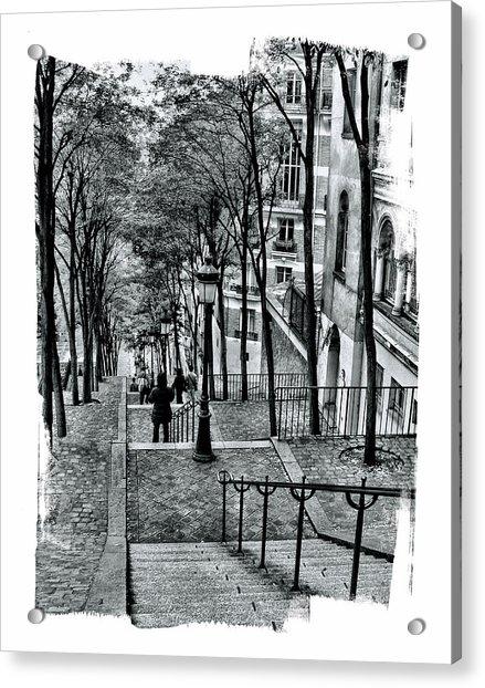 Paris Stairway Acrylic Print