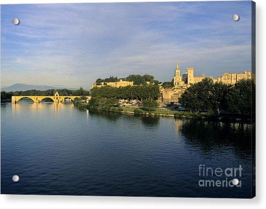 Pont D'avignon Et Palais Des Papes. Acrylic Print