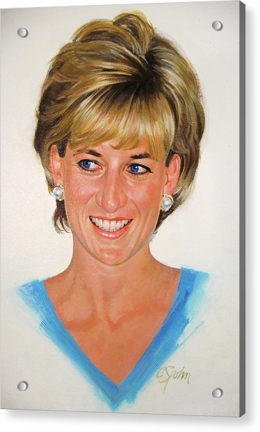 Acrylic Print featuring the painting Princess Diana by Cliff Spohn