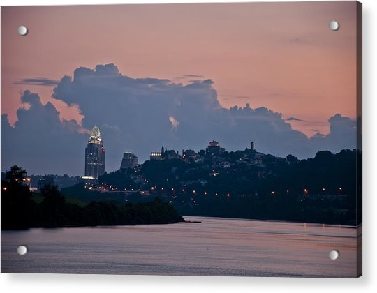 Queen City Via The Ohio River Acrylic Print