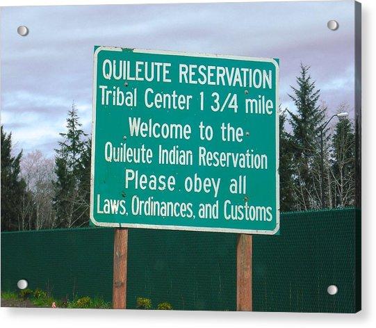Quileute Reservation La Push Acrylic Print