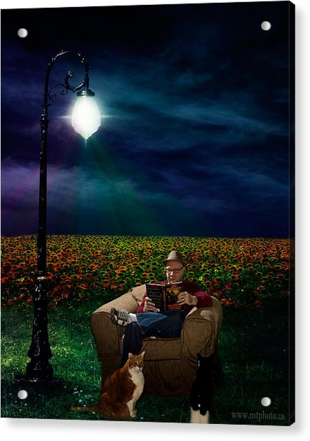 Acrylic Print featuring the photograph Reading Light by Michael Taggart