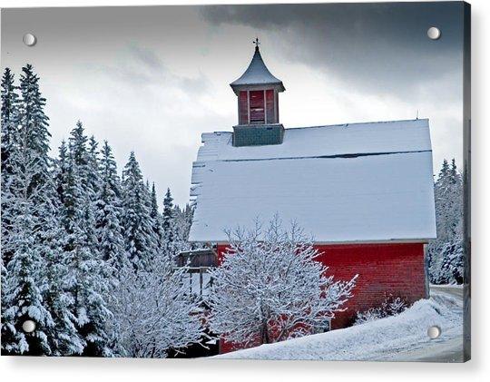 Red Barn Veemont Acrylic Print
