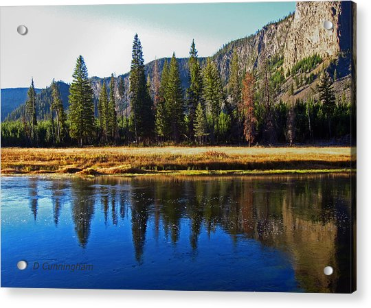 Reflection In The Rocky Mountains Acrylic Print
