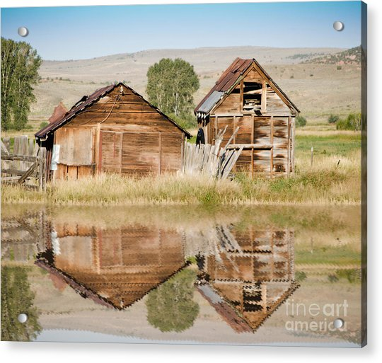 Reflection Of An Old Building Acrylic Print