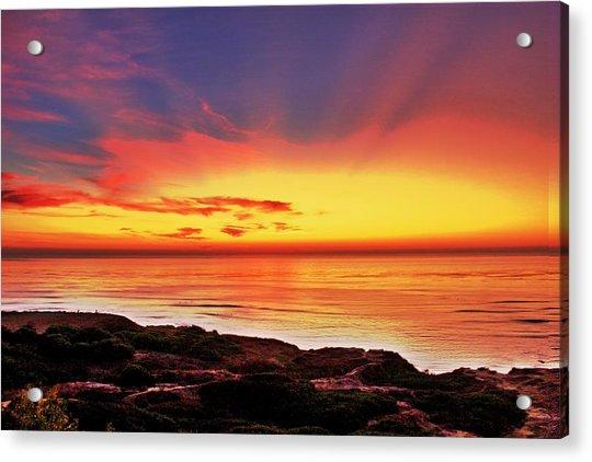 Reflections Of The Setting Sun Acrylic Print