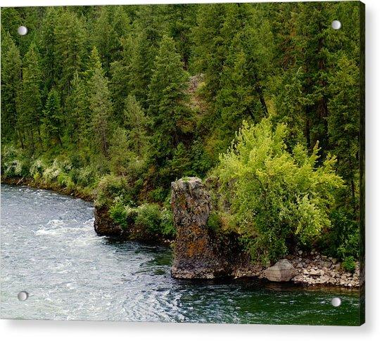 Rockin The Spokane River Acrylic Print