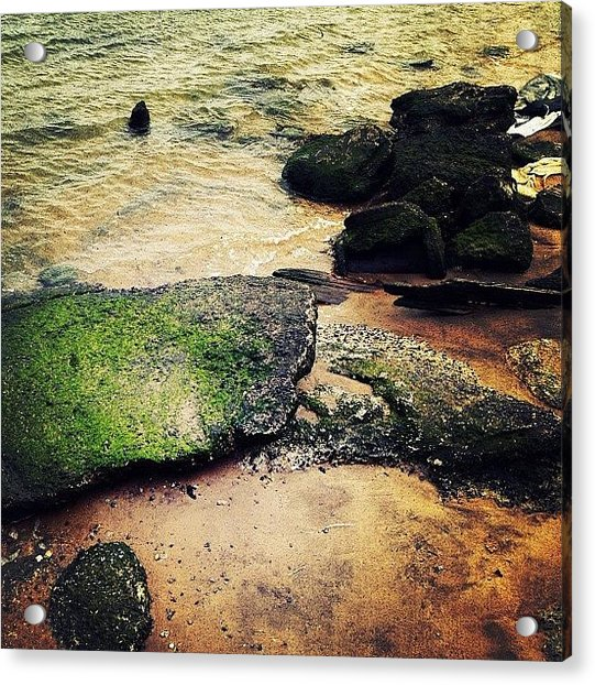 Rocks Upon The Shore Acrylic Print