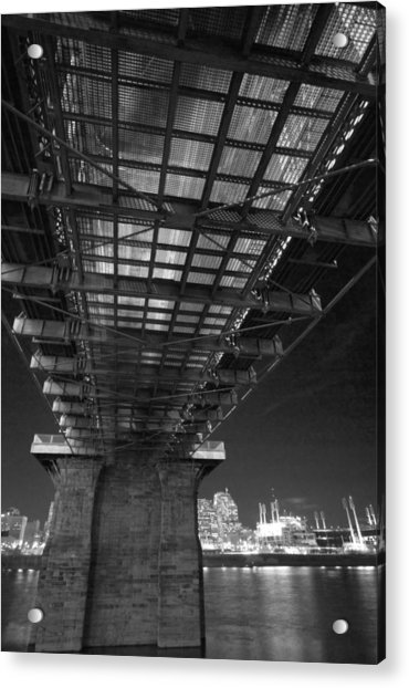 Roebeling Bridge Black And White Acrylic Print