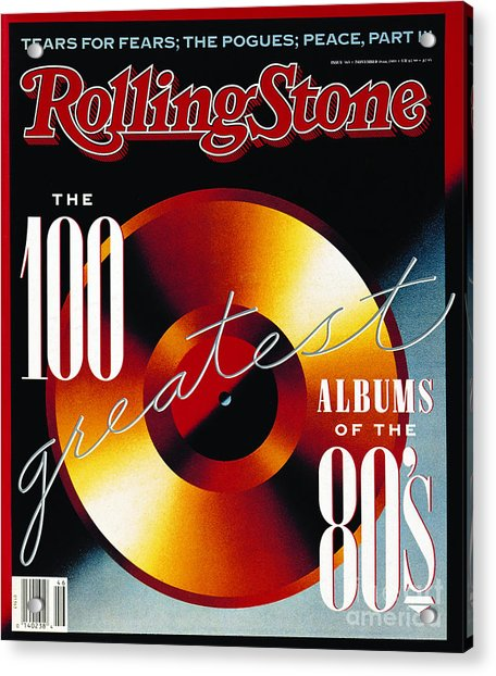 Rolling Stone Cover - Volume #565 - 11/16/1989 - 100 Greatest Albums Of The '80's Acrylic Print