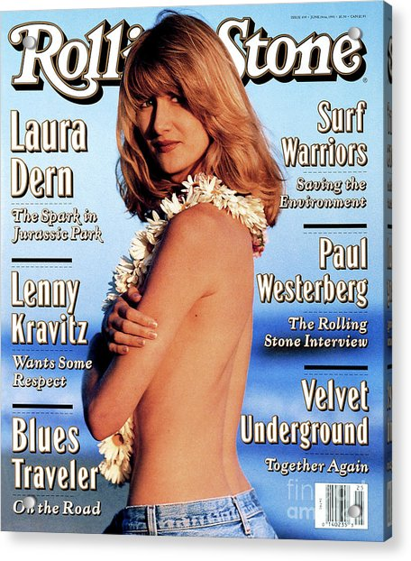 Rolling Stone Cover - Volume #659 - 6/24/1993 - Laura Dern Acrylic Print
