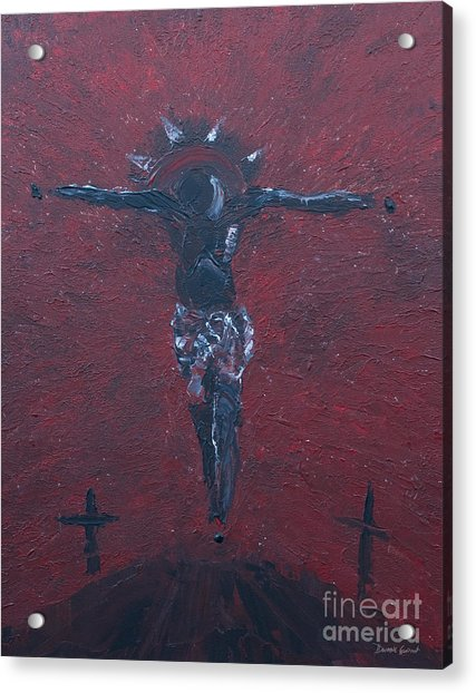 Acrylic Print featuring the painting Salvation by Dwayne Glapion
