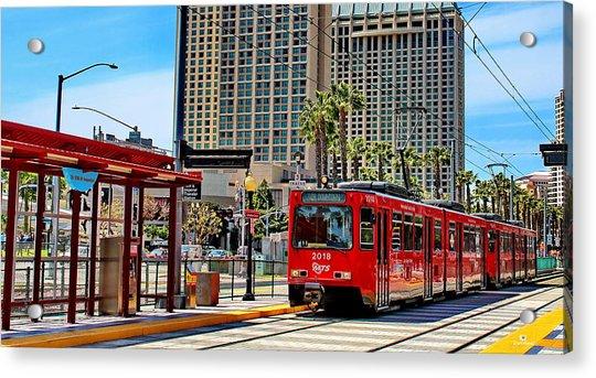San Diego Trolley Downtown Acrylic Print