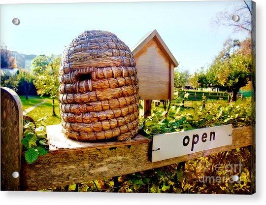 Seasonal Bee Farm  Acrylic Print