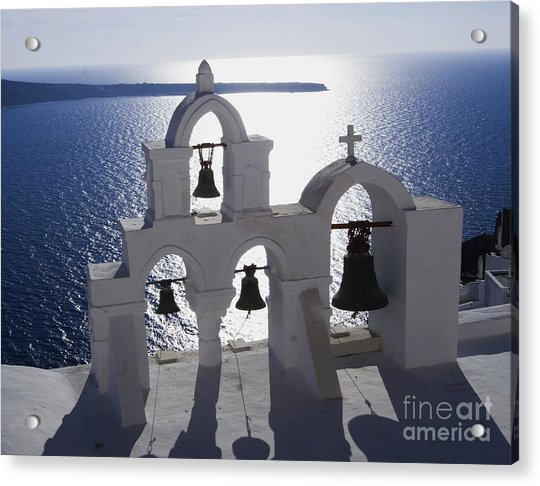 Shadows Of Santorini Acrylic Print