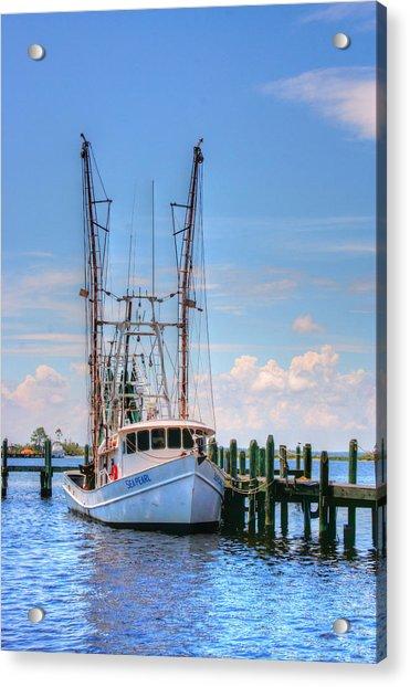 Shrimp Boat At Dock Acrylic Print