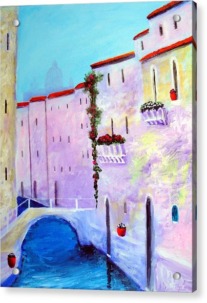 Side Canal Of Venice Acrylic Print