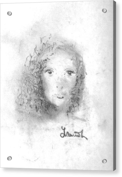 Acrylic Print featuring the drawing Something About Mary by Laurie Lundquist