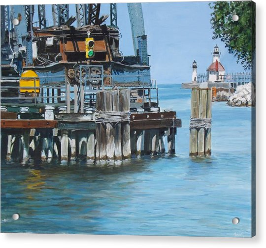 St. Joseph Swing Bridge Acrylic Print