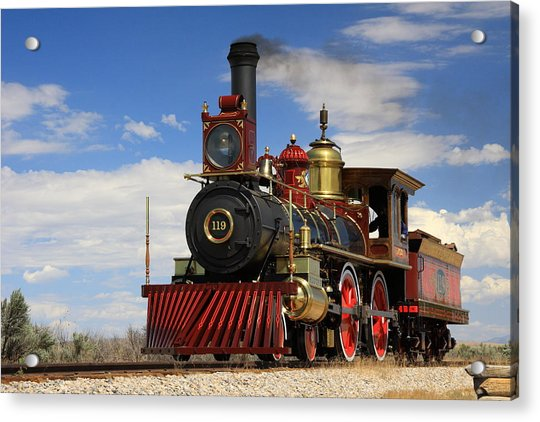 Steam Locomotive  Acrylic Print by Gene Praag