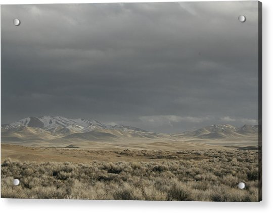 Storm In Dunes Acrylic Print