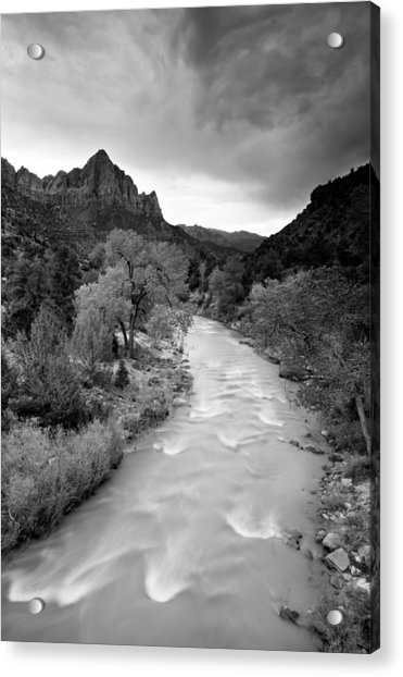 Storm Over The Watchman Acrylic Print