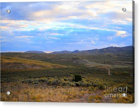 Stormy Wyoming Sunrise I Acrylic Print