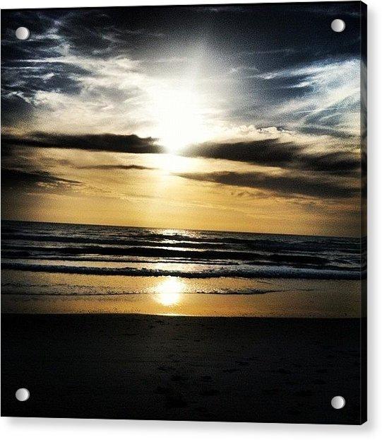 Sunrise On The Beach Acrylic Print