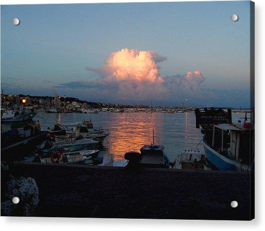 Sunset From Anzio Acrylic Print