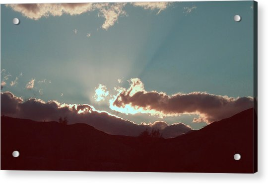 Sunset Acrylic Print by Naxart Studio
