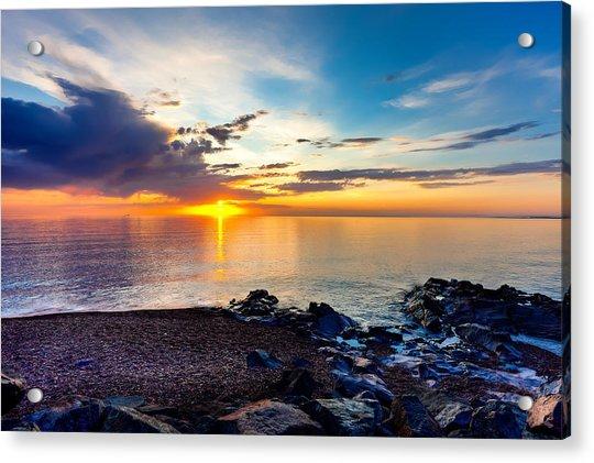 Superior Dawn Acrylic Print by David Wynia