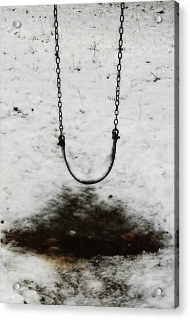 Swing In Snow Acrylic Print