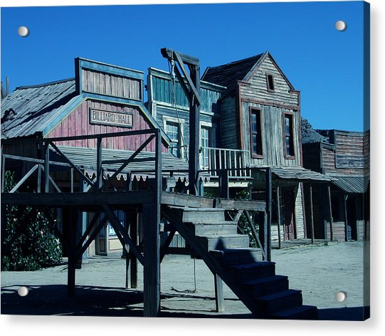Acrylic Print featuring the photograph Taverna Western Village In Spain by Colette V Hera  Guggenheim