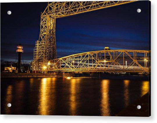 The Bridge Acrylic Print by David Wynia