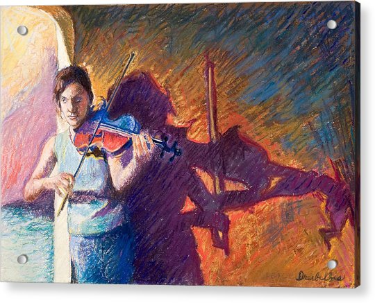The Fiddler From Julliard Acrylic Print