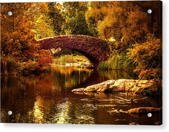 Acrylic Print featuring the photograph The Gapstow Bridge by Chris Lord