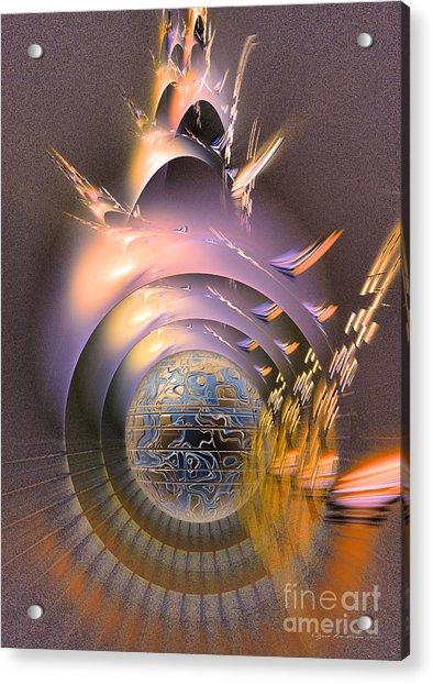 The Message - Fractal Art Acrylic Print
