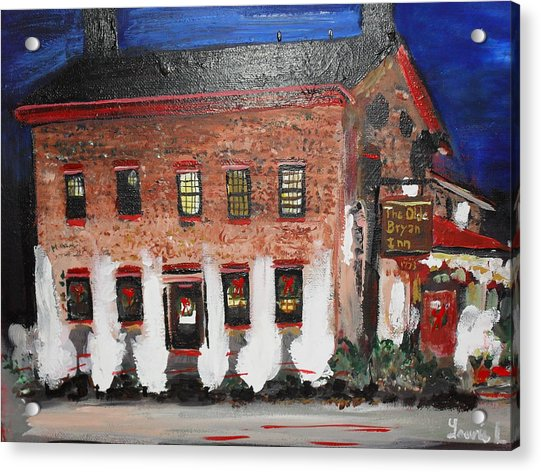 Acrylic Print featuring the painting The Olde Bryan Inn by Laurie Lundquist