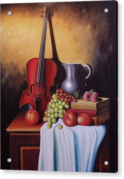The Red Violin Acrylic Print
