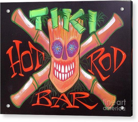 Tiki Hot Rod Bar Acrylic Print