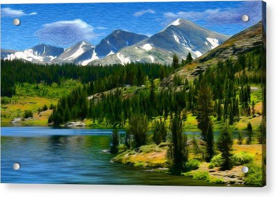 Tioga Lake Frank Lee Hawkins Acrylic Print