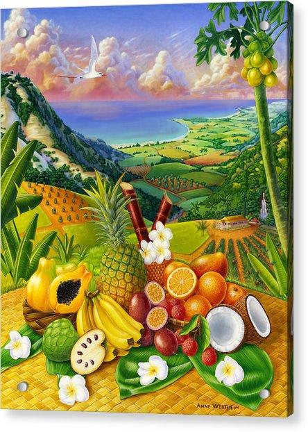 Tropical Fruit Medley Acrylic Print