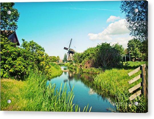 Typical Dutch  Windmill Acrylic Print