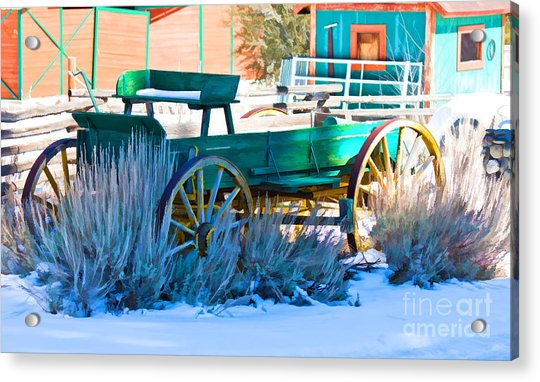 Waiting Wagon Acrylic Print