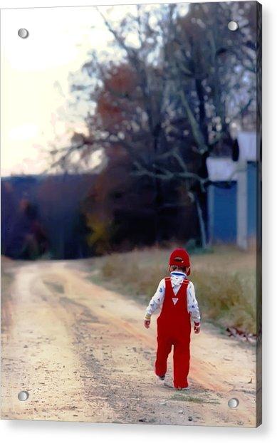 Walking On Pawpaw's Road Acrylic Print