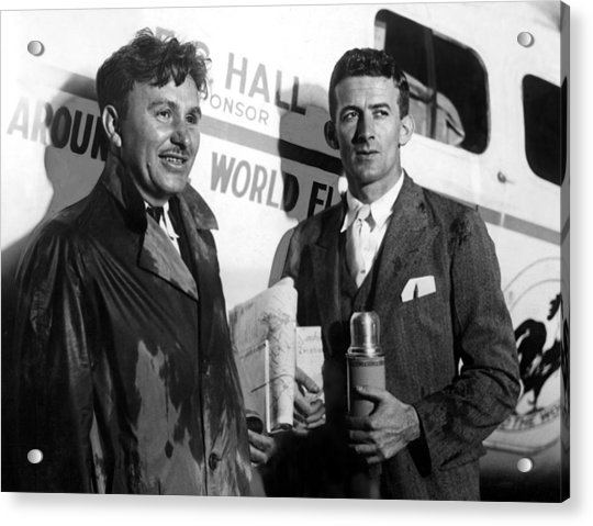 Wiley Post & Harold Gatty Set Photograph By Everett