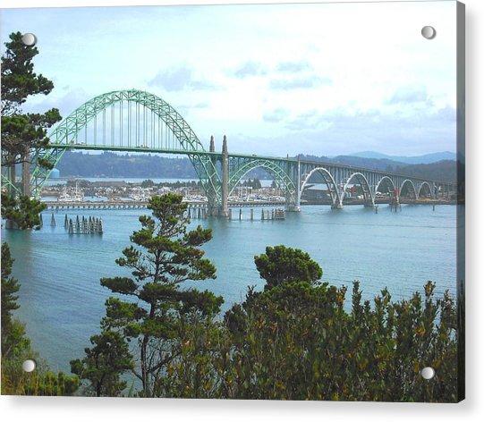 Yaquina Bay Bridge Newport Acrylic Print