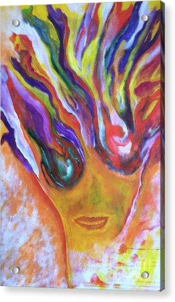 Yay Acrylic Print by Bebe Brookman